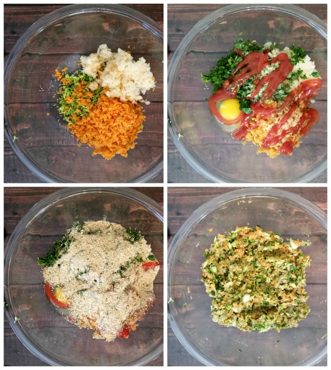 hearty veggieg meatloaf step by step