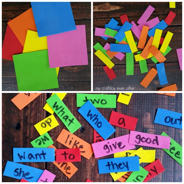 how to make sight word magnets