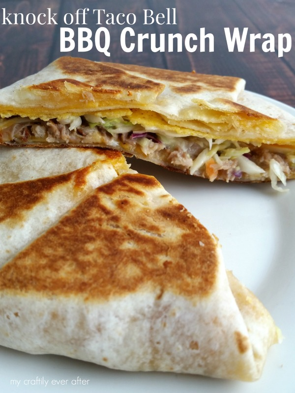 knock off taco bell bbq crunch wrap