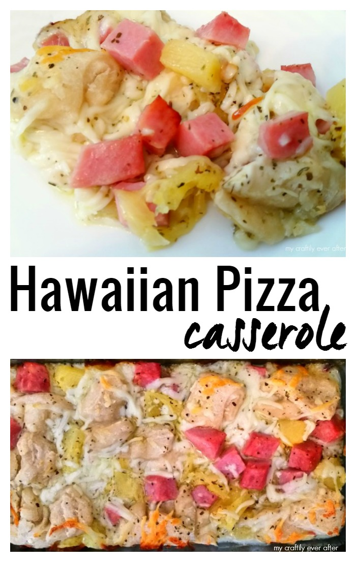 easy week night hawaiian pizza casserole
