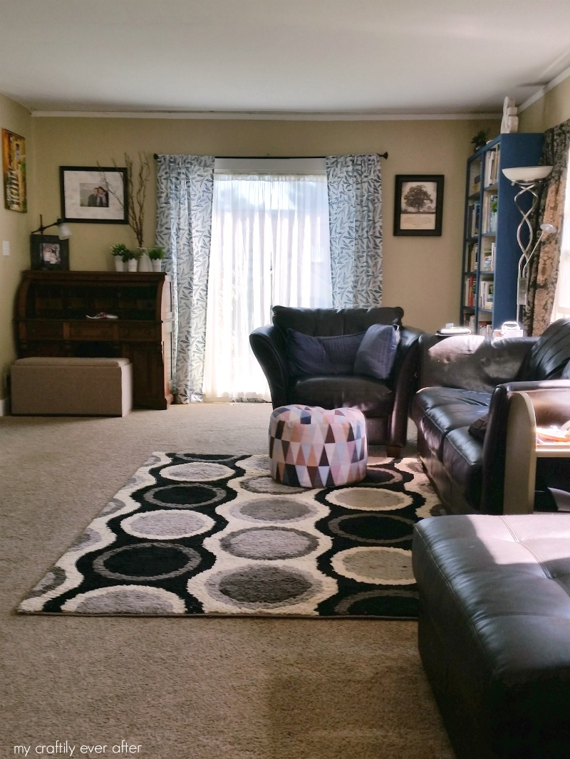 living room makeover curtains