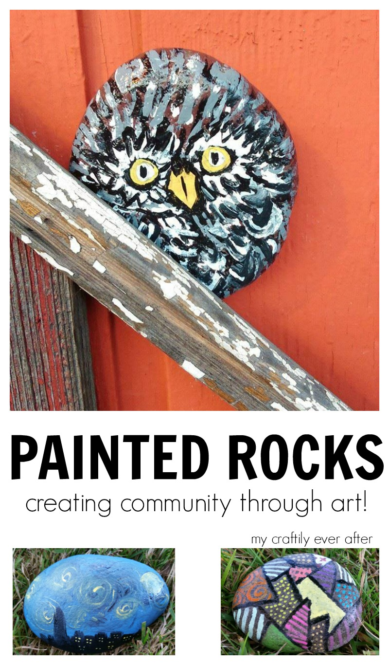 painting rocks - creating community through art!