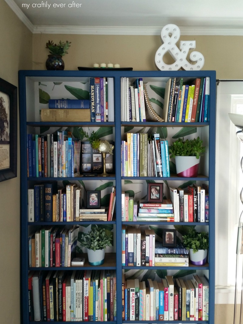 removable wallpaper walls need love bookshelf
