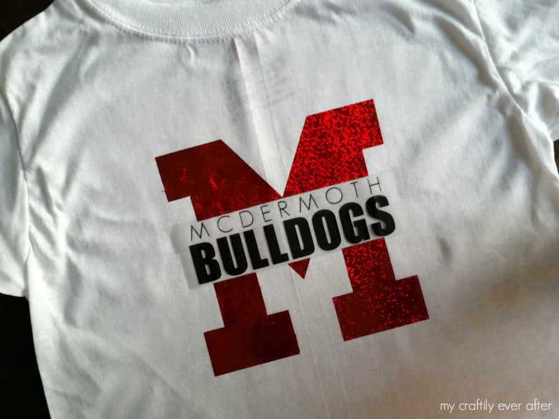 school spirit shirt diy with heat transfer vinyl