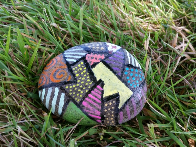 zentangle rock