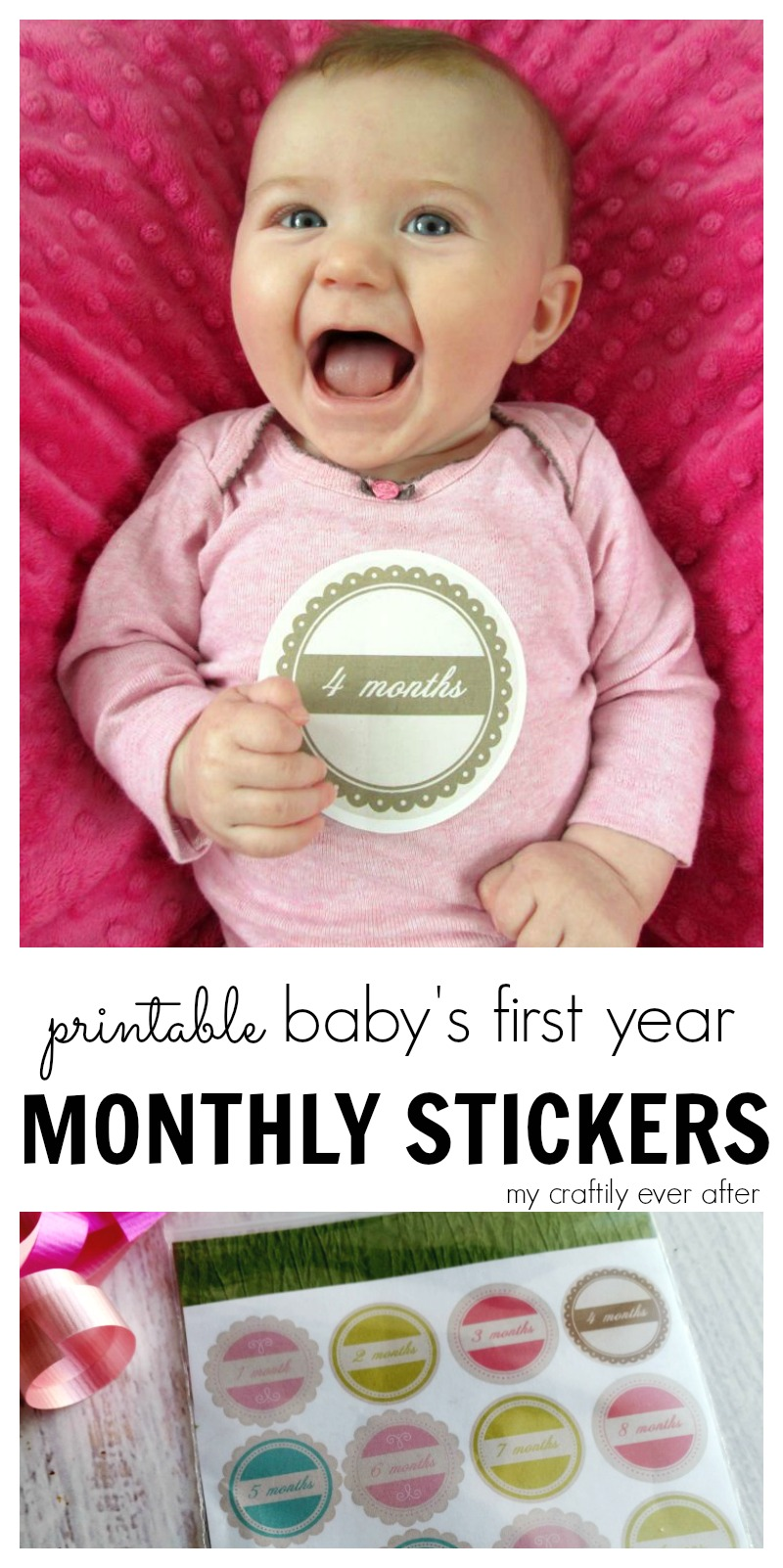 baby's first year monthly stickers