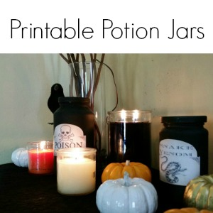 printable potion jars