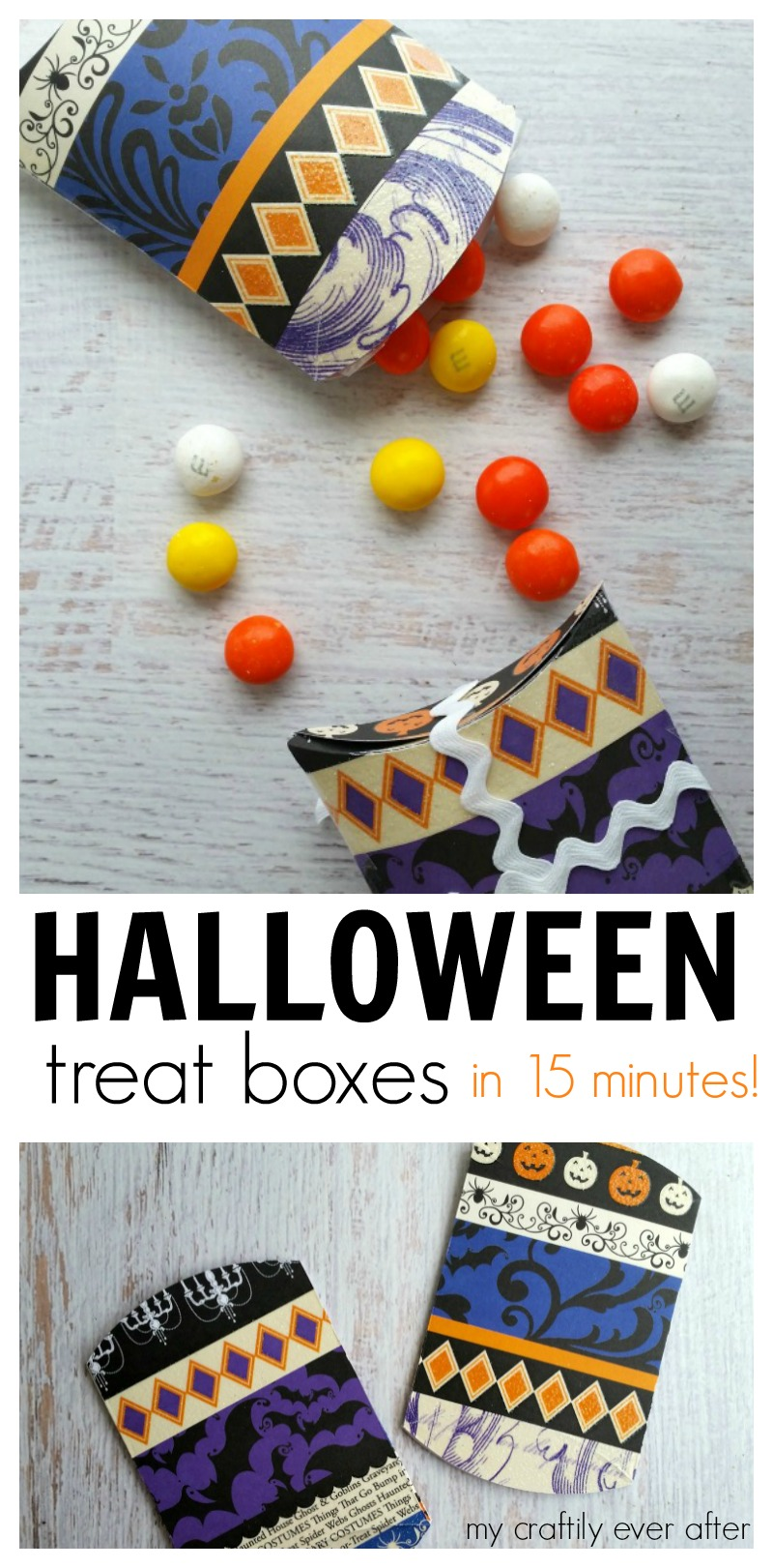 halloween treat boxes in only 15 minutes