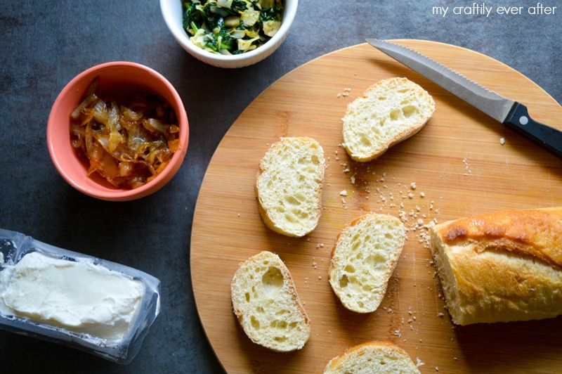 goat-cheese-spinach-and-caramelized-onion-bruschetta-ingredients