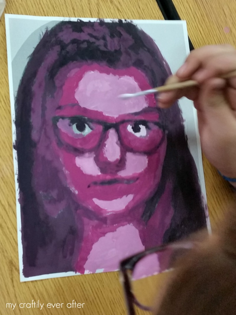 magenta-monochromatic-self-portraits