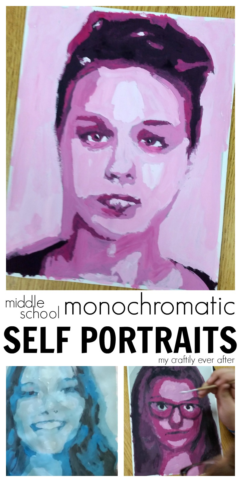 middle-school-monochromatic-self-portraits-by-my-craftily-ever-after