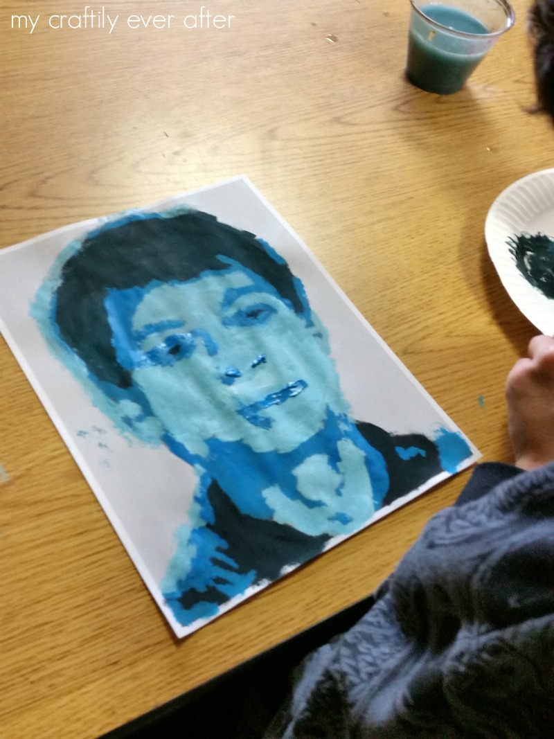 middle-school-monochromatic-self-portraits
