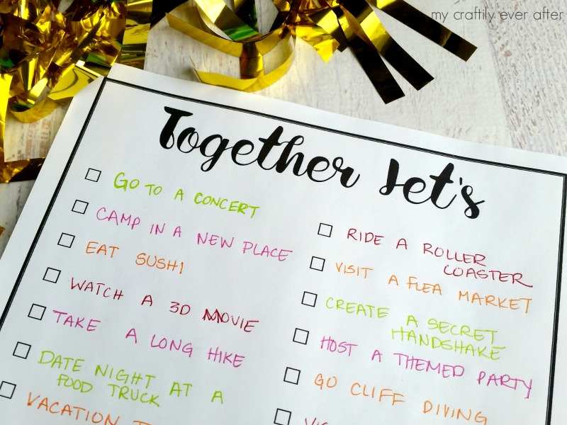 Together Let's Printable Bucket List