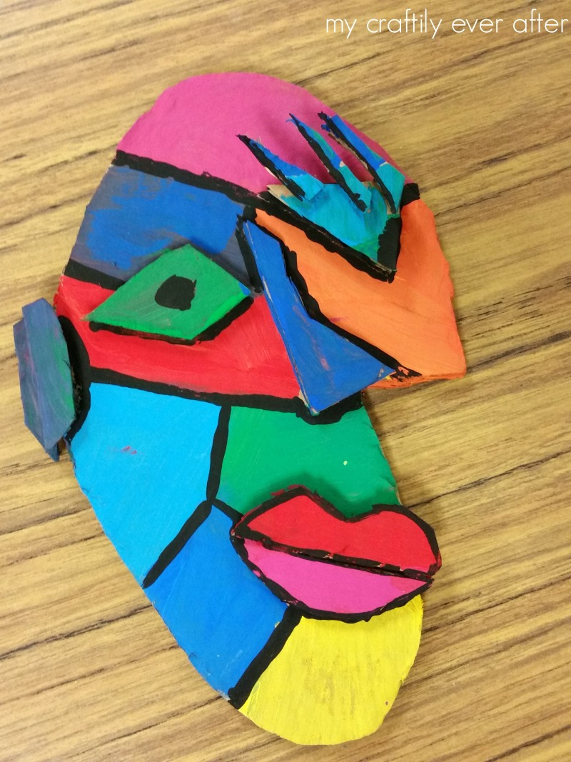 Cubist Cardboard Faces
