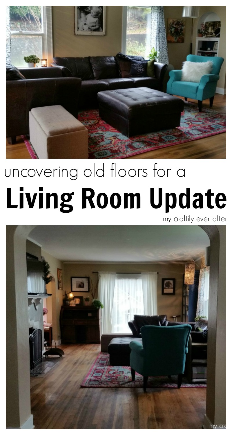 For A Living Room Uncovering Old Floors For A Living Room Update My Craftily Ever