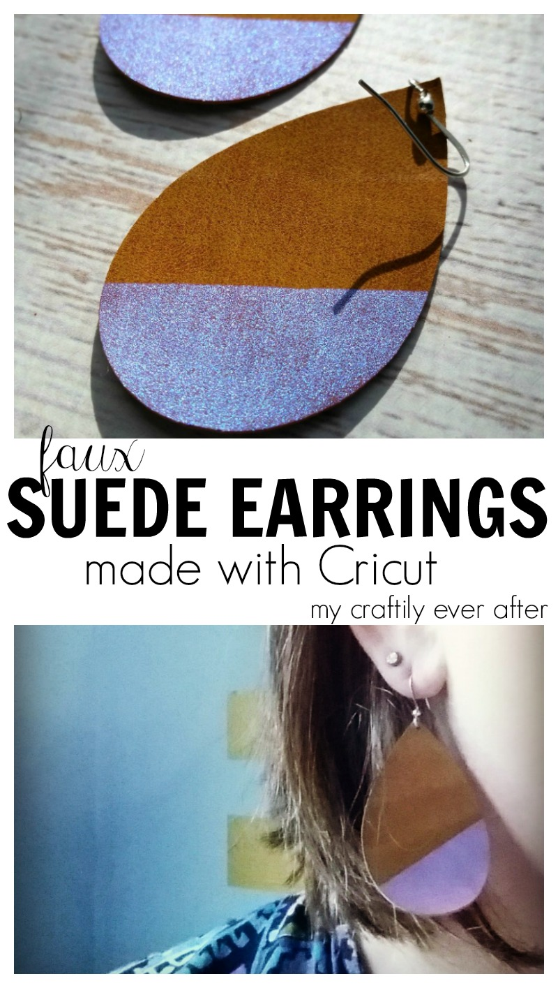 I Picked Up A Variety Pack Of Cricut's Faux Suede And Borrowed This Earring  Pattern From My Friend Steph At Crafting In The Rain