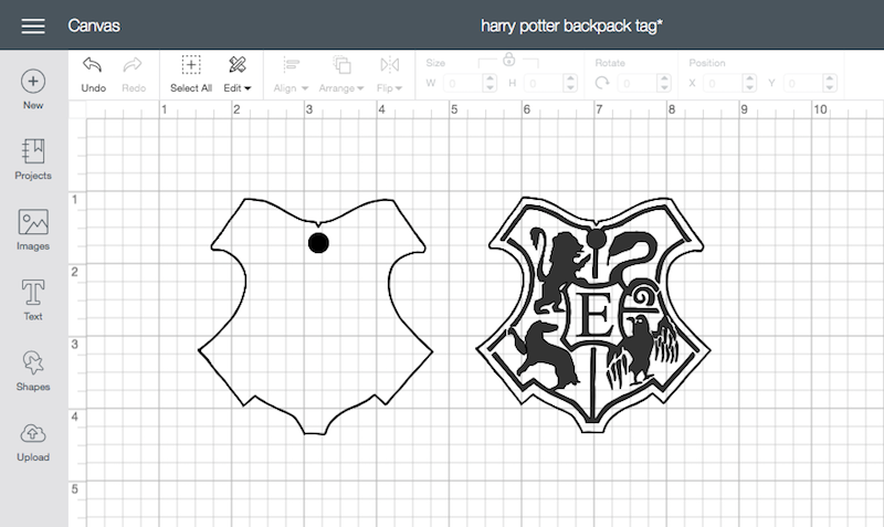 Harry Potter Back To School Backpack Tag With Cricut My