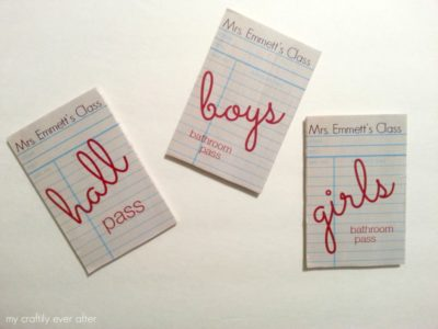 Vintage Inspired Hall Passes