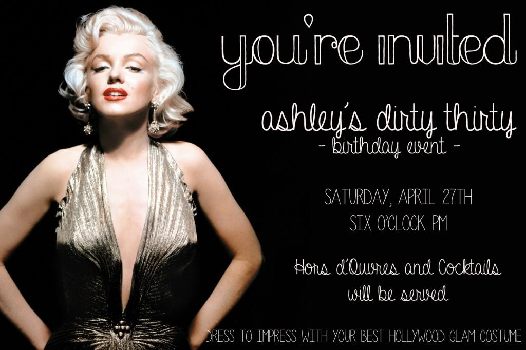 Hollywood Glam Birthday Party Invite