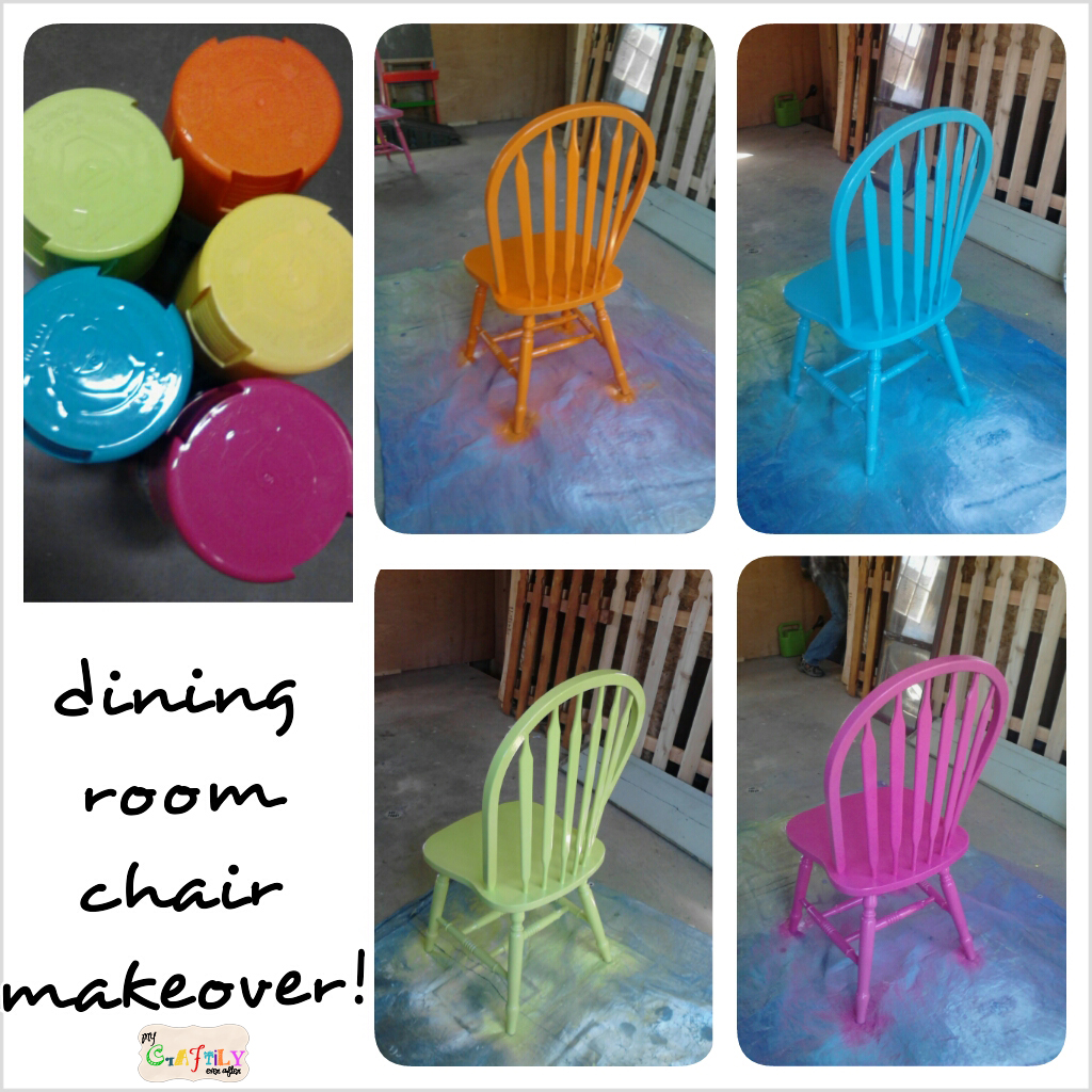 Colorful Dining Chair: Spray Painted Fiesta Chairs For The Dining Room Table
