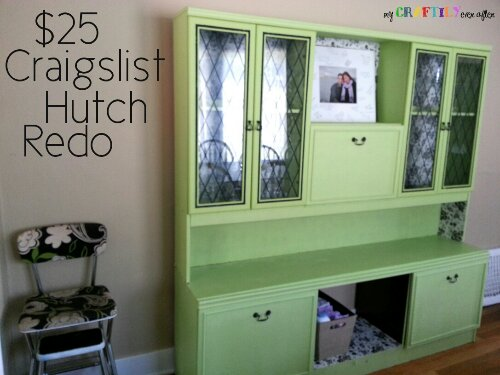 25 Craigslist Hutch Transformation My Craftily Ever After