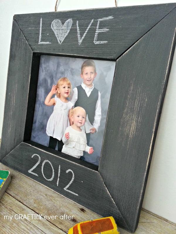 pb chalkboard frame knock off
