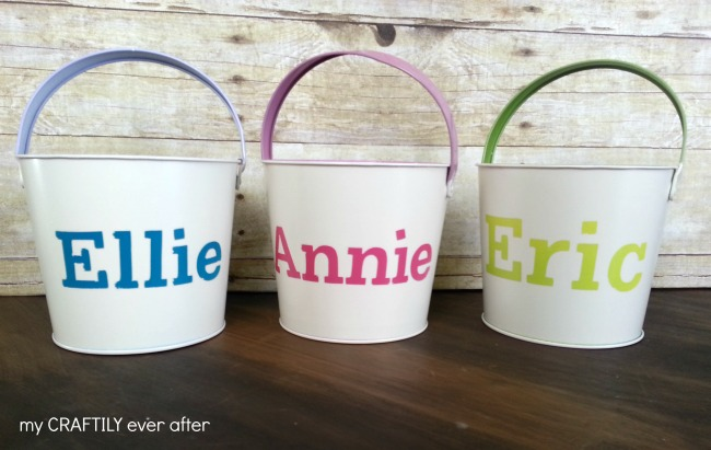 Personalized Easter Buckets – Pottery Barn Knock Off