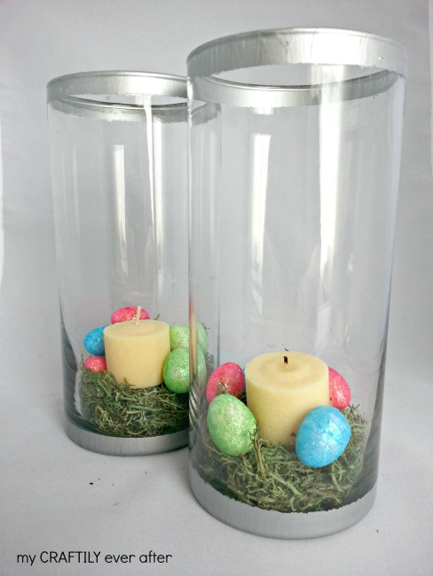 Easter Themed Silver Rim Glass Hurricanes – Pottery Barn Knock Off