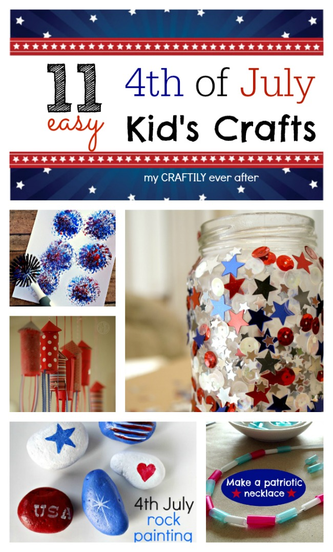 11 easy 4th of july kid's crafts | My Craftily Ever After