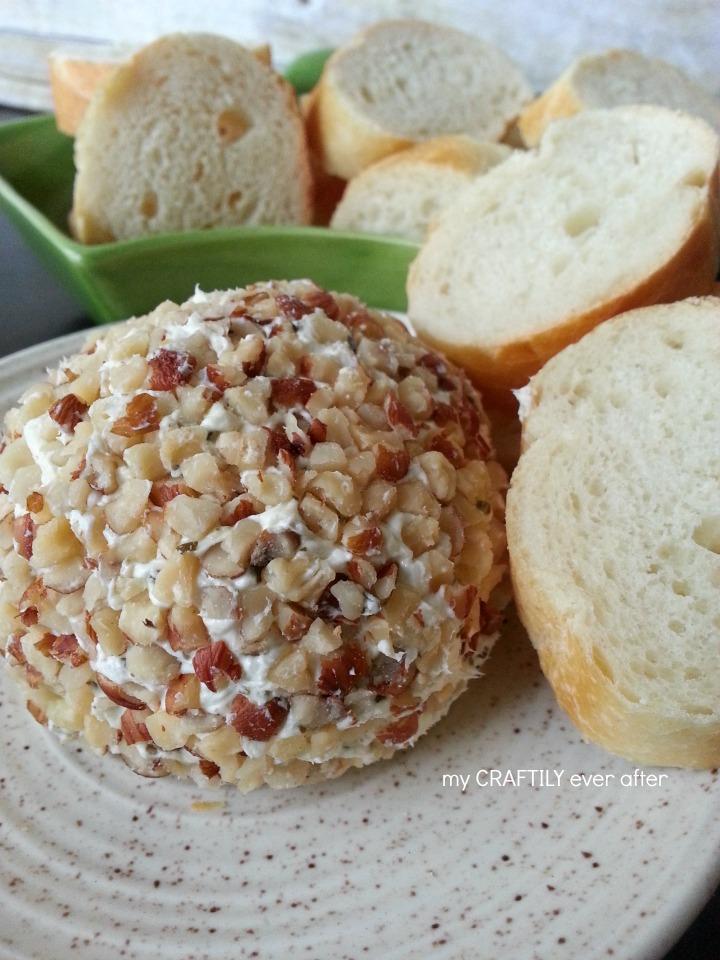Pesto and Hazelnut Cheese Ball
