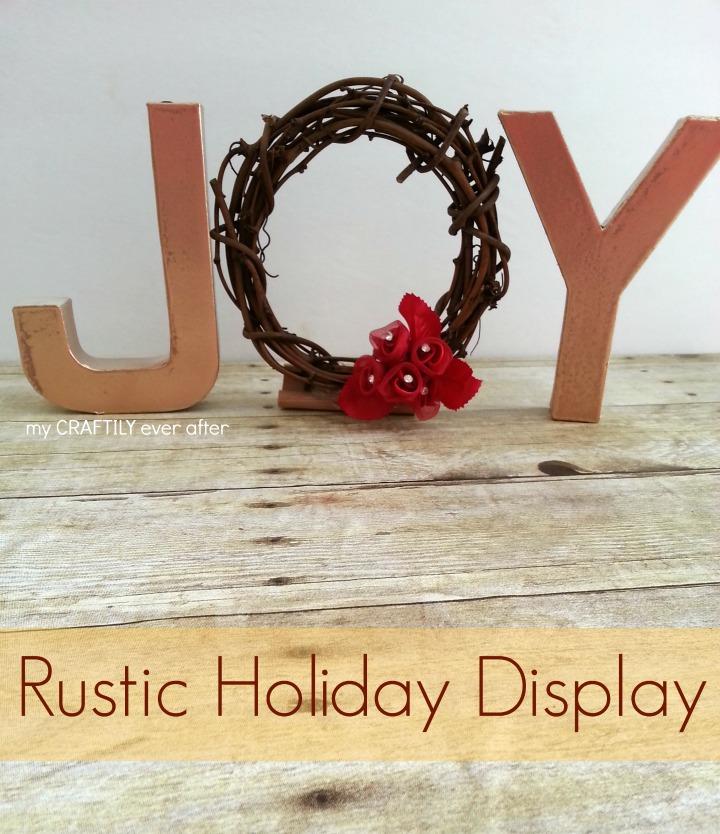 Rustic JOY Holiday Display