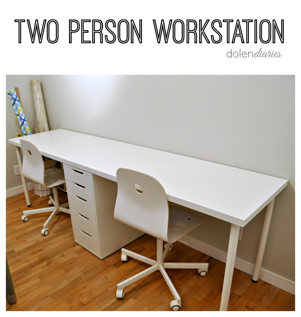 Two Person Workstation My Craftily Ever After