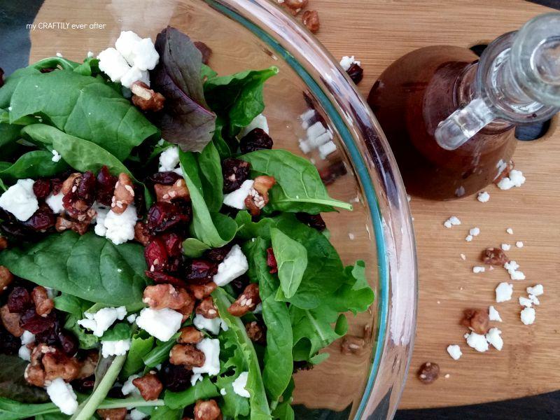Raspberry, Walnut & Feta Salad – with dressing recipe!