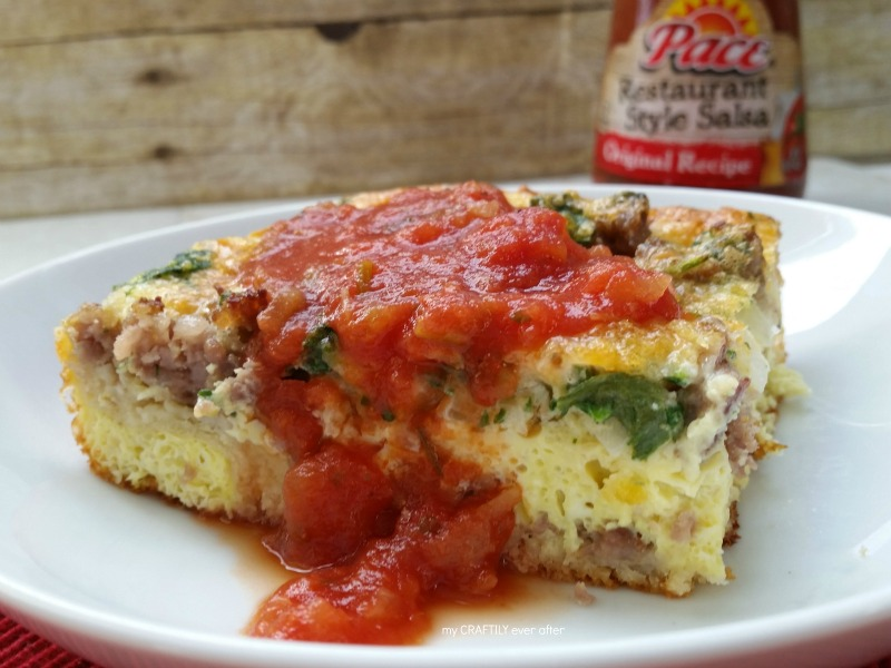 Easy Breakfast Quiche with Salsa