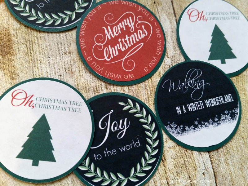 Christmas Lyric Printable Stickers