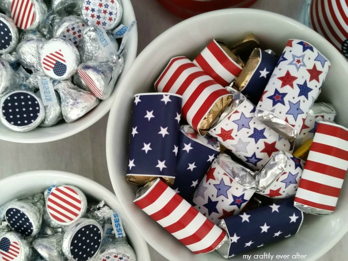 Printable Patriotic Candy Labels