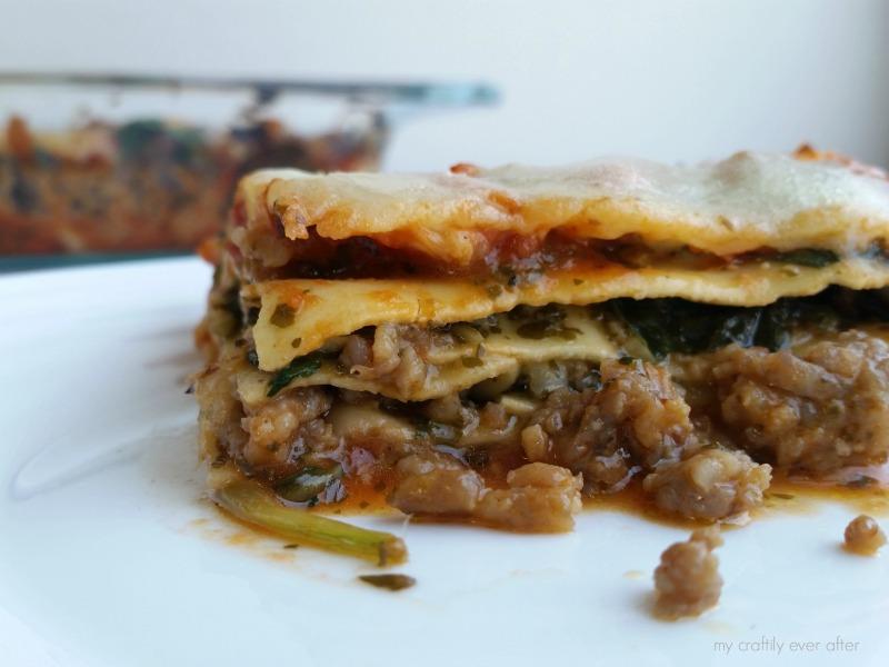 Pesto & Sausage Lasagna