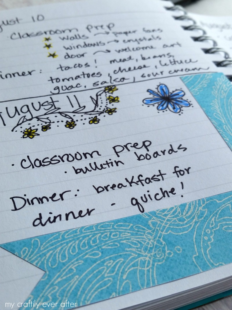 Blue and Yellow Planner Stickers