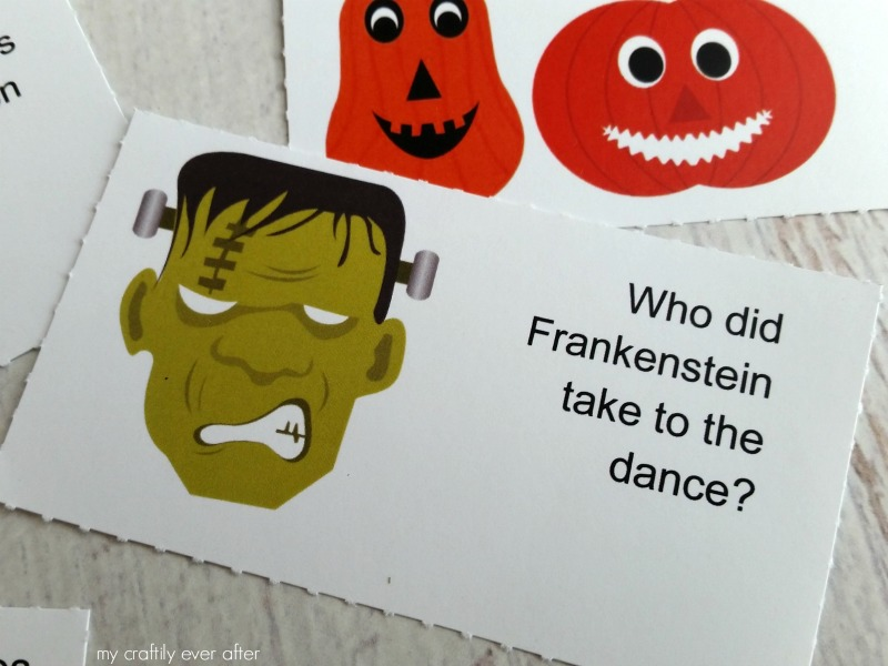 Printable Halloween Lunch Box Jokes